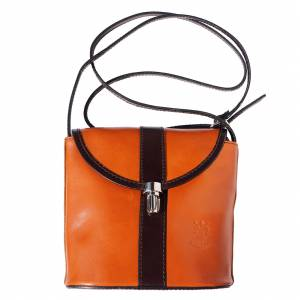 Shoulder cross body hard leather bag