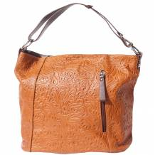"Patterned calf leather shoulder bag ""LISA"""