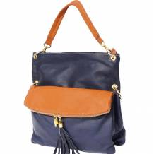Hobo bag made in soft genuine calf-skin leather with adjustable long strap