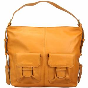 Totally leather shoulder bag - Stock