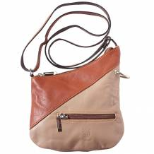 Genuine soft leather mini cross body bag