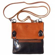 Shoulder bag in soft genuine leather