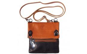 Shoulder bag in soft genuine leather