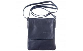 Flat cross body bag in soft calf leather