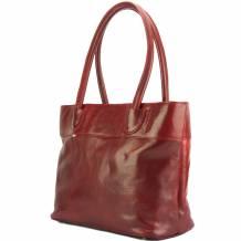 Tote V bag in leather