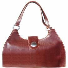 Handbag with double handle made of genuine calf leather (Big)