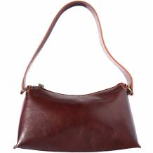 Genuine calf leather handbag with single handle