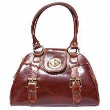 Leather Bauletto with double handle