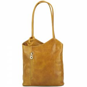 Cloe V leather shoulder bag