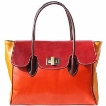 Colorful handbag with double handle