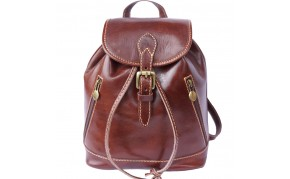 Backpack purse made of genuine calf-skin leather ( Small )