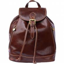 Leather Backpack made of genuine calf-skin leather