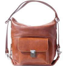 "Calf skin shoulder bag ""Barbara"" Multifunction (transformable into a backpack and cross-body bag)"