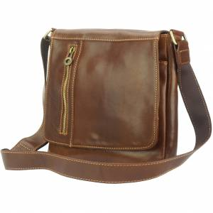 Messenger Amico with genuine leather