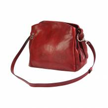 Viviana V leather shoulder bag