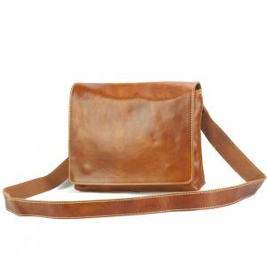 Flap Messenger bag in cow leather