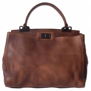 Peekaboo leather-handbag