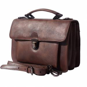Mini vintage briefcase with two compartments and a front pocket