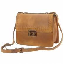 Shoulder flap bag Kléber GM by vintage leather