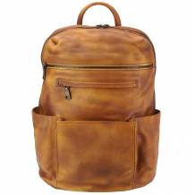 Backpack Tiziano in vintage-calfskin