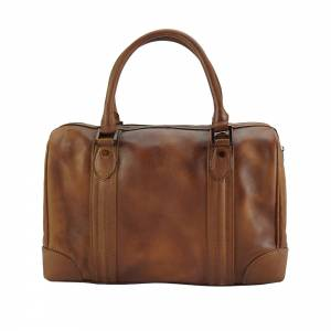 Fulvia Leather Boston Bag