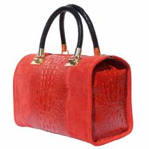 Bowling bag with golden hardware
