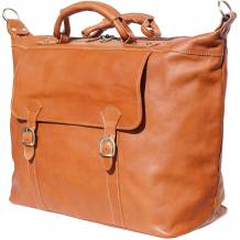 "Unisex travel bag ""weekender"" in hard cow leather"