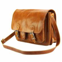 Pamela Leather Messenger Bag
