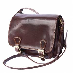 Mini leather messenger bag