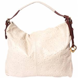 Debora leather shoulder bag