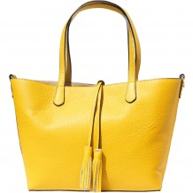 "Shopping bag ""Belinda"" in grainy leather"