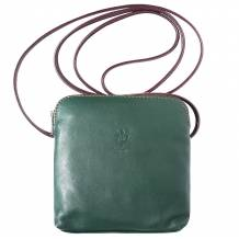 Mini soft leather unisex cross body bag