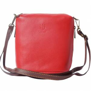 "Soft cross body leather bag ""Felicità"" with small side pockets"