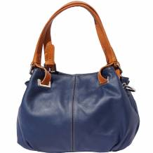 Soft calf-skin leather shoulder bag
