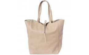 Tote shopping bag in genuine leather