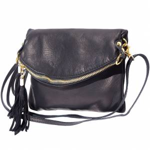 Graziella folded clutch in soft calf skin leather