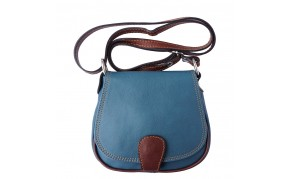 Genuine soft leather rounded cross body bag