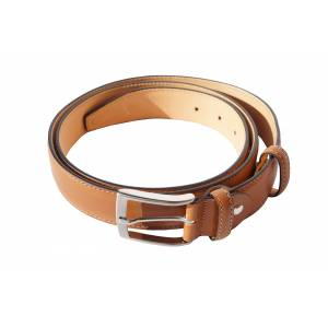 Belt with double reinforced leather