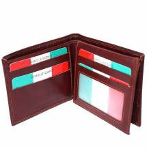 Leather wallet for man in rigid structure