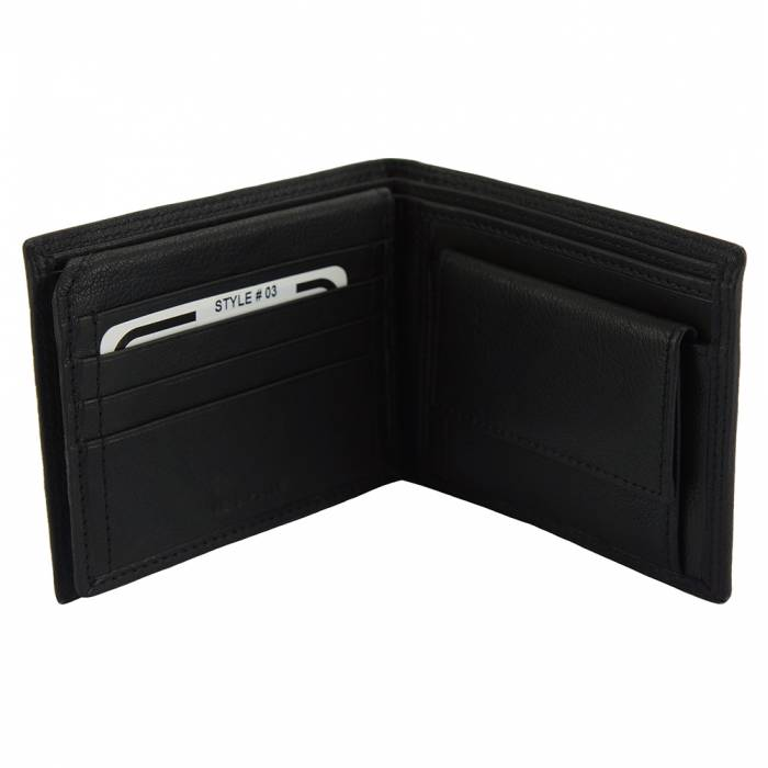 56d7e13b6e Salvatore Wallet in calf-skin soft leather with coin pocket for man ...