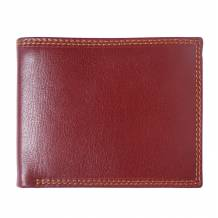 Leather wallet with flap for mens