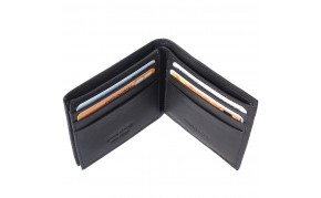 Mini wallet in calf-skin soft leather with out coin pocket for man