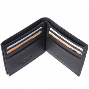 Mini portafoglio in pelle morbida di vitello senza porta-monete da uomo
