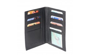 Leather wallet vertical in soft calfskin for man