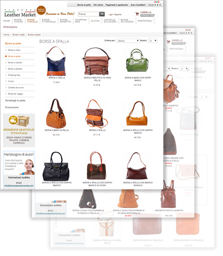 Leather handbags italian online